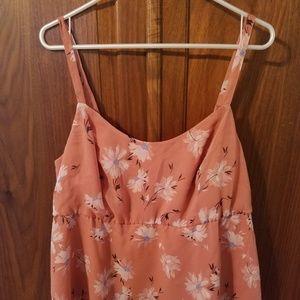 Torrid Vintage Orange Chiffon Babydoll Cami Size 1